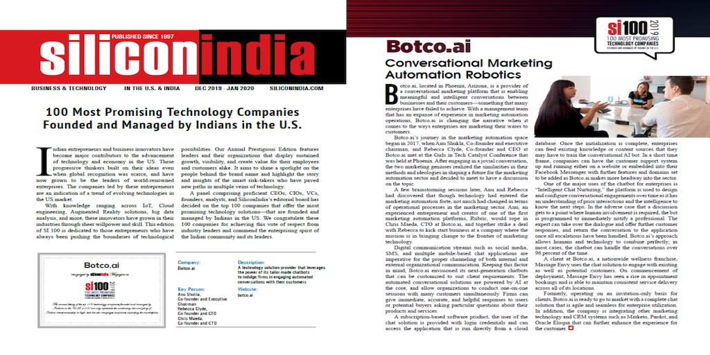 Screenshot of Silicon India magazine